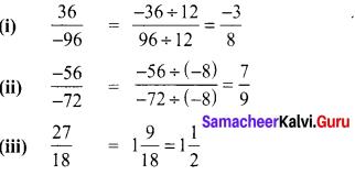 Samacheer Kalvi 8th Maths Term 1 Chapter 1 Rational Numbers Intext Questions 5