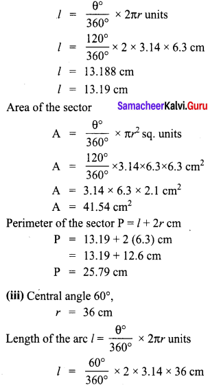 8th Maths 2.1 Solutions Term 1 Chapter 2 Measurements Samacheer Kalvi