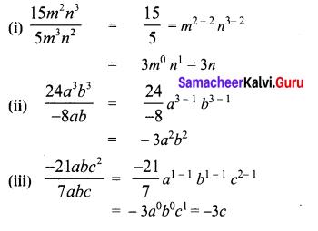 Samacheer Kalvi 8th Maths Term 1 Chapter 3 Algebra Additional Questions 2