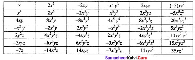 Maths 8th Samacheer Kalvi Solutions Term 1 Chapter 3 Algebra Ex 3.1