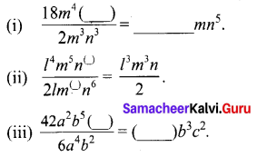 Samacheerkalvi.Guru 8th Maths Solutions Term 1 Chapter 3 Algebra Ex 3.2