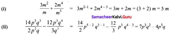 Exercise 3.2 Class 8 Maths Solutions Term 1 Chapter 3 Algebra Ex 3.2 Samacheer Kalvi