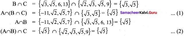 Exercise 1.4 Class 9 Maths Samacheer Kalvi Solutions Chapter 1 Set Language