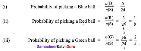 9th Class Maths Exercise 9.1 Solution Chapter 9 Probability Samacheer Kalvi