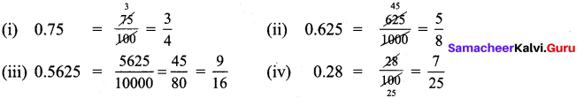 Samacheer Kalvi 9th Maths Chapter 2 Real Numbers Additional Questions 1