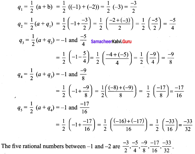 9th Maths 2.1 Solutions Chapter 2 Real Numbers Samacheer Kalvi