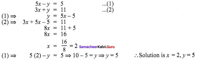 Samacheer Kalvi 9th Maths Chapter 3 Algebra Additional Questions 110