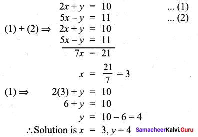 Samacheer Kalvi 9th Maths Chapter 3 Algebra Additional Questions 111
