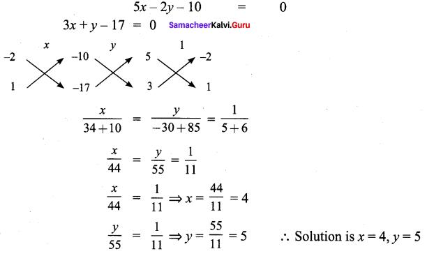 Samacheer Kalvi 9th Maths Chapter 3 Algebra Additional Questions 112