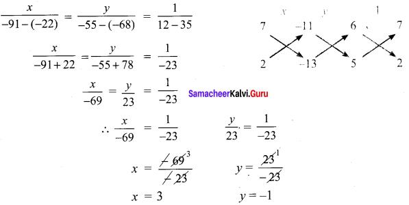 Samacheer Kalvi 9th Maths Chapter 3 Algebra Ex 3.13 7