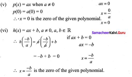 9th Maths Exercise 3.2 Solutions Chapter 3 Algebra Samacheer Kalvi