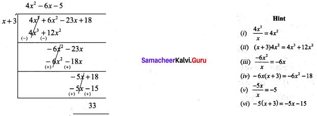 9th Maths Algebra Exercise 3.7 Chapter 3 Samacheer Kalvi