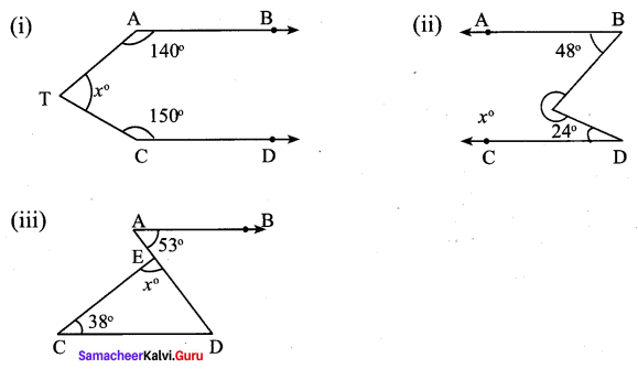 Samacheer Kalvi 9th Maths Chapter 4 Geometry Ex 4.1 1
