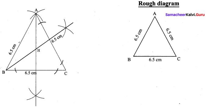 9th Maths Geometry Exercise 4.5 Solutions Samacheer Kalvi Chapter 4