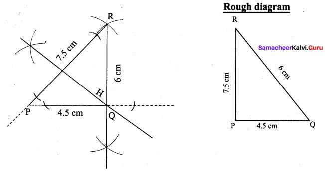 9th Maths Practical Geometry Samacheer Kalvi Chapter 4 Ex 4.5