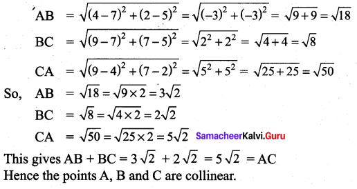 Samacheer Kalvi 9th Maths Chapter 5 Coordinate Geometry Additional Questions 1