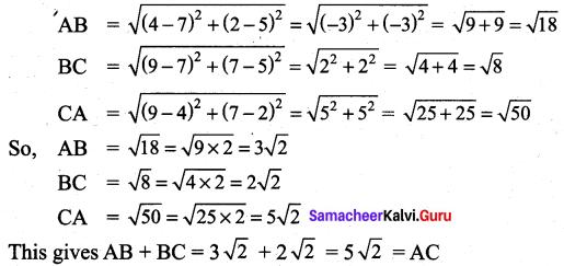 Samacheer Kalvi 9th Maths Chapter 5 Coordinate Geometry Additional Questions 61