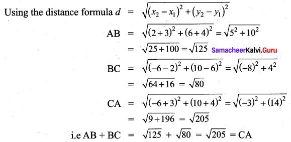 Samacheer Kalvi 9th Maths Chapter 5 Coordinate Geometry Additional Questions 62