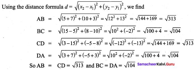 Samacheer Kalvi 9th Maths Chapter 5 Coordinate Geometry Additional Questions 64