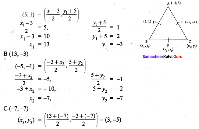 Samacheer Kalvi 9th Maths Chapter 5 Coordinate Geometry Additional Questions 70