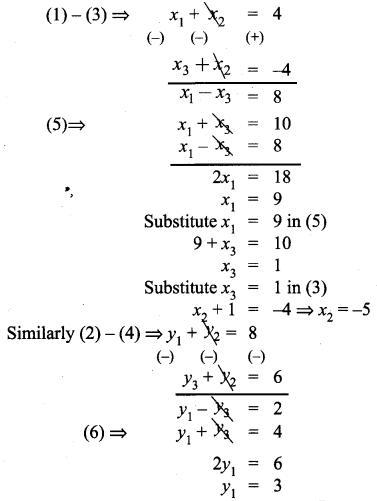 Class 9 Maths Exercise 5.3 Solution Chapter 5 Coordinate Geometry Samacheer Kalvi