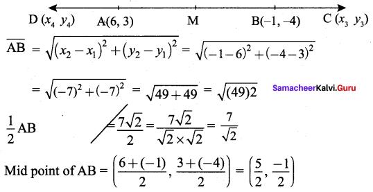 Samacheer Kalvi 9th Maths Chapter 5 Coordinate Geometry Ex 5.4 6