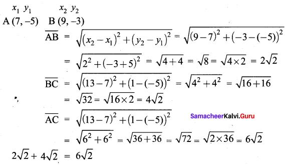 Samacheer Kalvi 9th Maths Chapter 5 Coordinate Geometry Ex 5.4 9