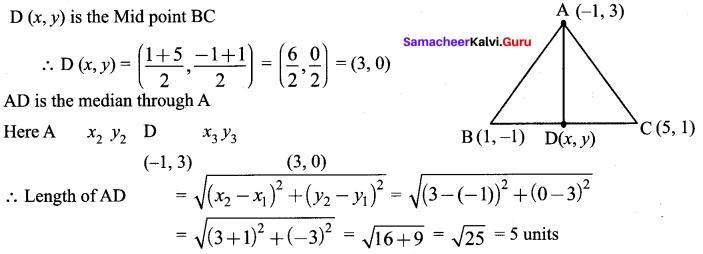 Samacheer Kalvi 9th Maths Chapter 5 Coordinate Geometry Ex 5.5 3