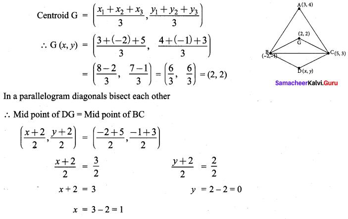 Samacheer Kalvi 9th Maths Chapter 5 Coordinate Geometry Ex 5.5 7