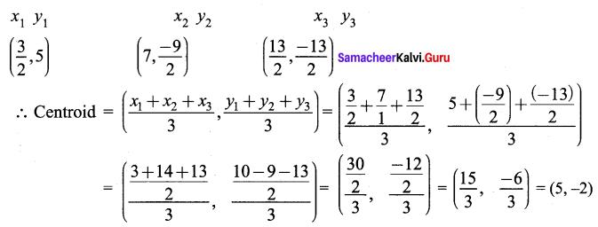 Samacheer Kalvi 9th Maths Chapter 5 Coordinate Geometry Ex 5.5 8