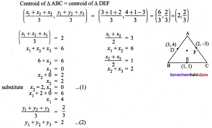 Samacheer Kalvi 9th Maths Chapter 5 Coordinate Geometry Ex 5.6 60