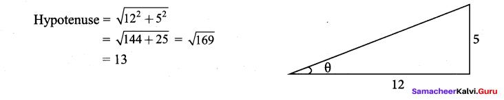 Samacheer Kalvi 9th Maths Chapter 6 Trigonometry Additional Questions 1