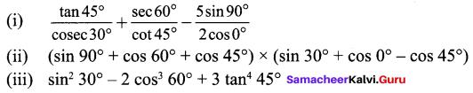 9th Class Maths 6.2 Solutions Chapter 6 Trigonometry Samacheer Kalvi
