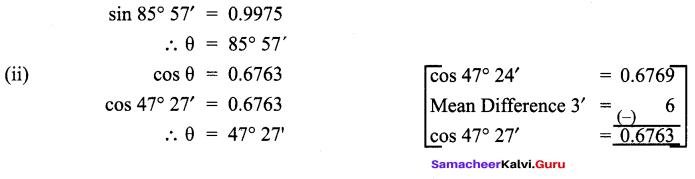 Samacheer Kalvi 9th Maths Chapter 6 Trigonometry Ex 6.4 3