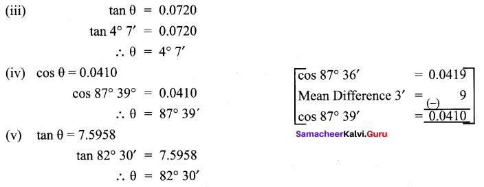 Samacheer Kalvi 9th Maths Chapter 6 Trigonometry Ex 6.4 4
