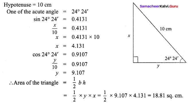 Samacheer Kalvi 9th Maths Chapter 6 Trigonometry Ex 6.4 5