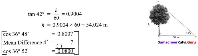 Samacheer Kalvi 9th Maths Chapter 6 Trigonometry Ex 6.4 7