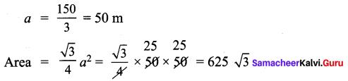 Samacheer Kalvi 9th Maths Chapter 7 Mensuration Additional Questions 3