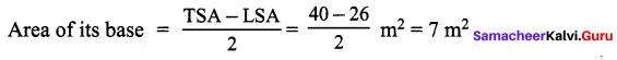 Samacheer Kalvi 9th Maths Chapter 7 Mensuration Additional Questions 5