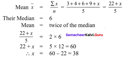 Samacheer Kalvi 9th Maths Chapter 8 Statistics Ex 8.2 7