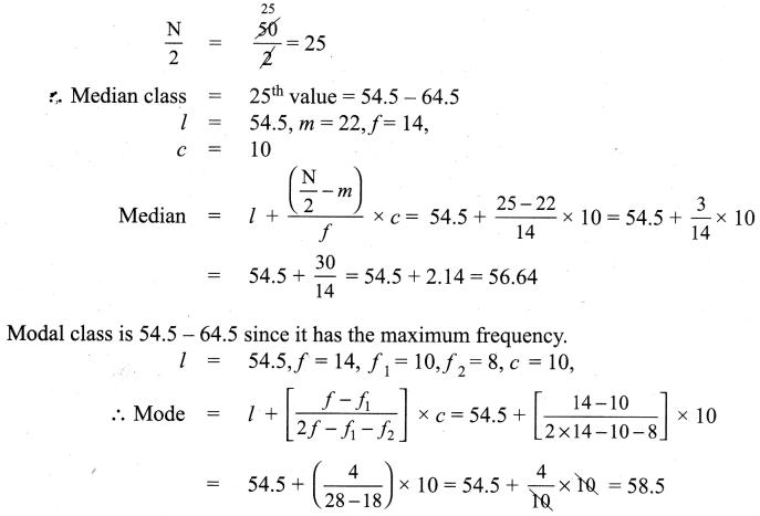 Samacheer Kalvi 9th Maths Chapter 8 Statistics Ex 8.3 11