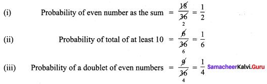 Samacheer Kalvi 9th Maths Chapter 9 Probability Additional Questions 6