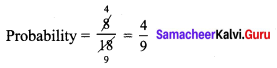 Samacheer Kalvi 9th Maths Chapter 9 Probability Additional Questions 7