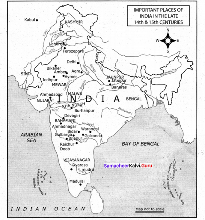 Samacheer Kalvi Guru 9th Social Science History Solutions Chapter 7 State And Society In Medieval India