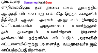 Aged Mother Summary Samacheer Kalvi 10th English Solutions Supplementary Chapter 4