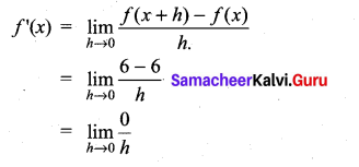 Samacheer Kalvi 11th Maths Solutions Chapter 10 Differentiability and Methods of Differentiation Ex 10.1 1