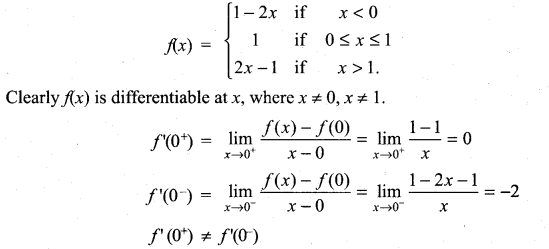 Samacheer Kalvi 11th Maths Solutions Chapter 10 Differentiability and Methods of Differentiation Ex 10.1 13