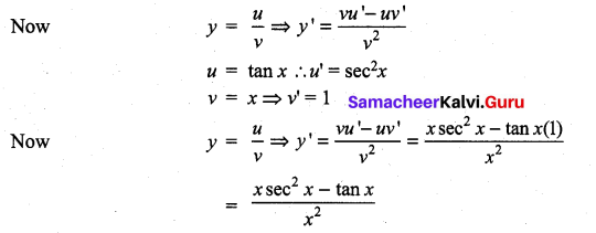 Samacheer Kalvi 11th Maths Solutions Chapter 10 Differentiability and Methods of Differentiation Ex 10.2 1