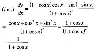 Samacheer Kalvi 11th Maths Solutions Chapter 10 Differentiability and Methods of Differentiation Ex 10.2 2
