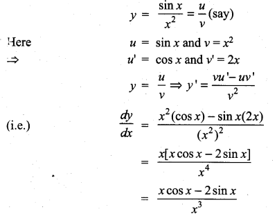 Samacheer Kalvi 11th Maths Solutions Chapter 10 Differentiability and Methods of Differentiation Ex 10.2 5